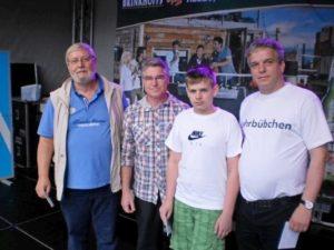 vlnr. Peter Herröder, Manfred Boldt, Patrick Adamczyk, Andreas Sahm