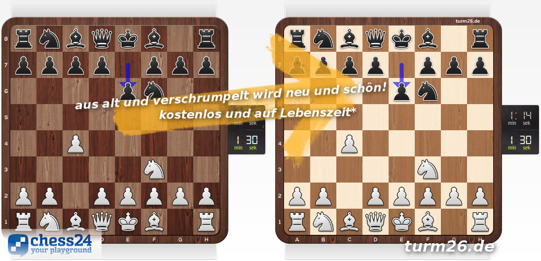 chess24 - Schachbrett Skin kostenlos und auf Lebenszeit!